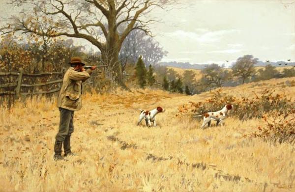 Cacciatore e cani