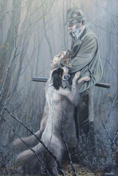 Cacciatore con cani