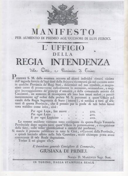Manifesto lupi