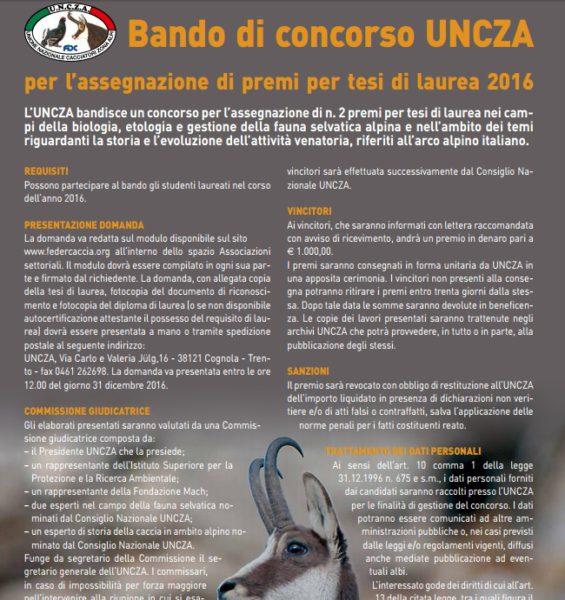 Bando concorso Uncza