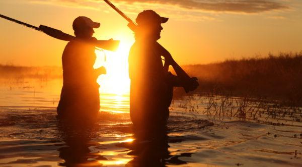 cacciatori al tramonto