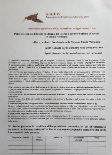 RACCOLTA FIRME EMILIA ANLC