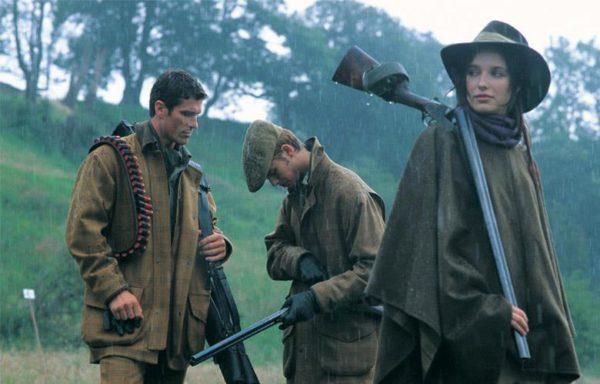 Cacciatori sotto la pioggia