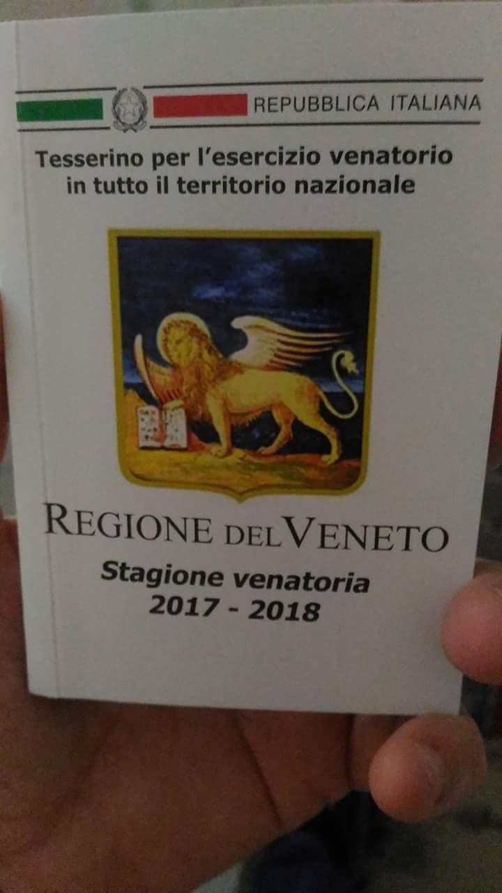 Attenzione! Errore di stampa sui tesserini, comunicazione della Regione Veneto