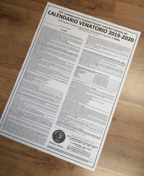 Calendario Venatorio Sicilia 2020.Cct Delibera Calendario Venatorio Regione Toscana 2019 2020