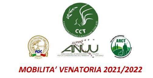 TOSCANA: MOBILITA' VENATORIA 2021/2022