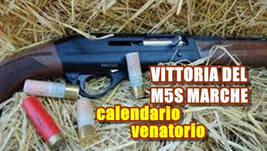 M5S Marche calendario venatorio
