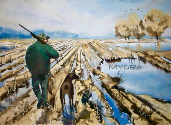 Dipinto caccia...