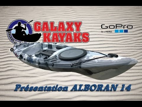 GALAXY KAYAK – Présentation ALBORAN 14 Kayak de pêche en mer –